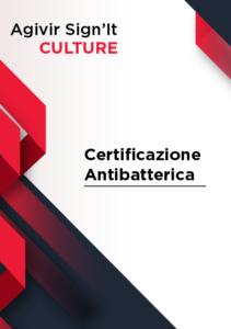 Certificaione Anti Batterica