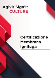 Certificazione Membrana Ignifuga